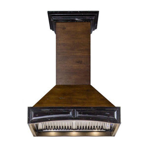 ZLINE 30 in. Wooden Wall Range Hood with Crown Molding (400 - Bison Kitchens