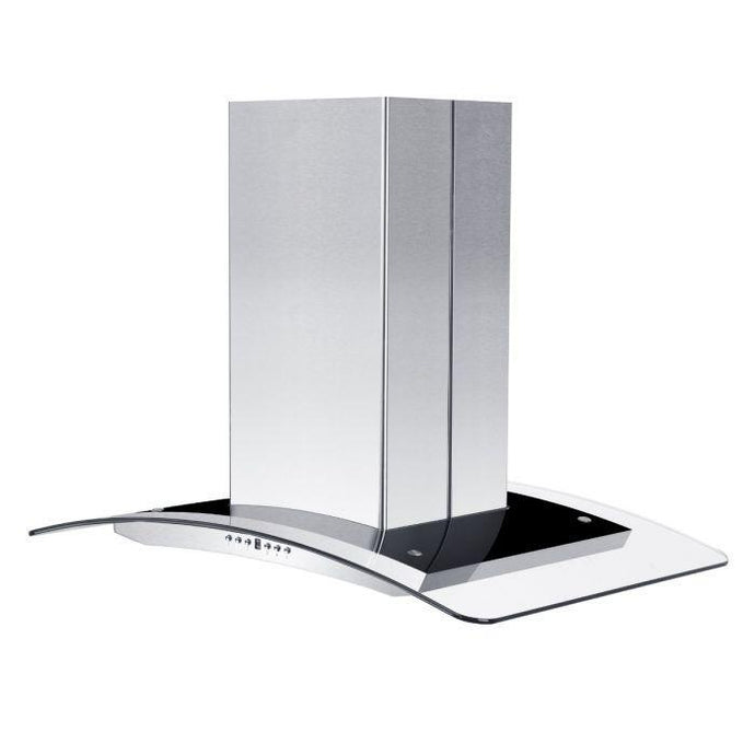 ZLINE 30-36 in. Island Glass Range Hood - Stainless Steel (GL14i-30) - Bison Kitchens