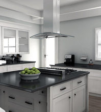 Load image into Gallery viewer, ZLINE 30-36 in. Island Glass Range Hood - Stainless Steel (GL14i-30) - Bison Kitchens