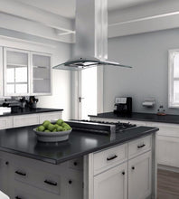 Load image into Gallery viewer, ZLINE 30-36 in. Island Glass and Stainless Steel Range Hood (GL9i-30) - Bison Kitchens