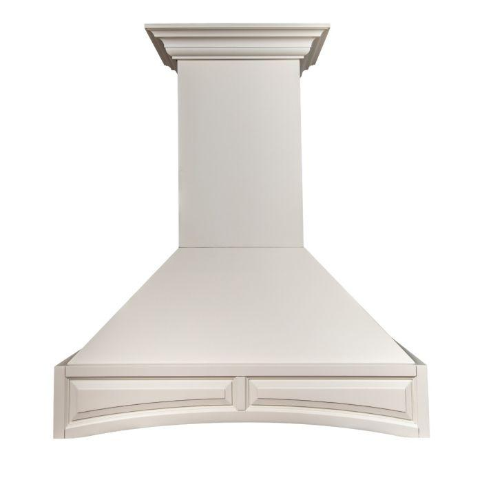 ZLINE 30 in. Remote Blower Designer Series Wooden Wall Range Hood with Crown Molding (321TT-RS-30) - Bison Kitchens