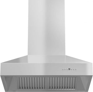 ZLINE 30-48 in. Stainless Steel Wall Range Hood With Crown Molding - (667CRN-30) - Bison Kitchens