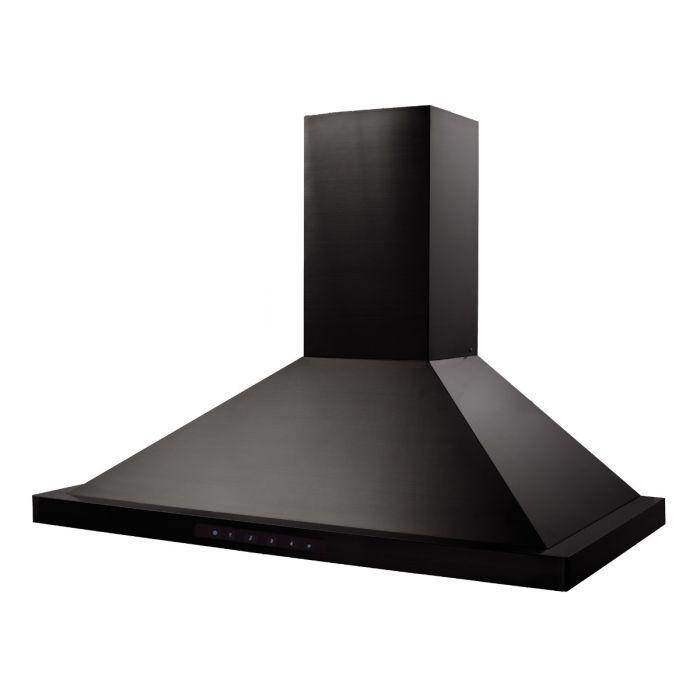 ZLINE 24-48 in. Wall Mount Range Hood In Black Stainless Steel (BSKBN-24) - Bison Kitchens