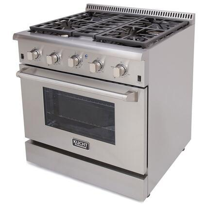 Ranges - KUCHT Professional 30 In. 4.2 Cu. Ft. Natural Gas Range In Stainless Steel - KRG3080US