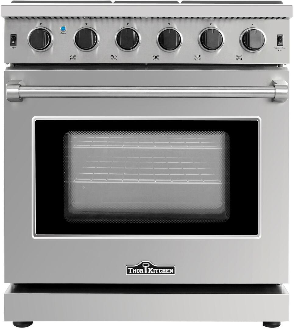 Thor Kitchen 30 in. Professional Stainless Steel Gas Range - LRG3001U - Bison Kitchens