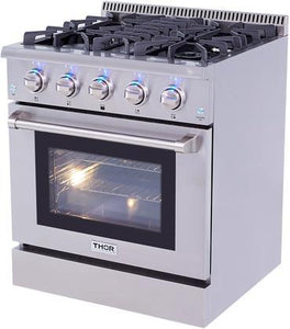 Thor Kitchen 30 inch Professional Stainless Steel Gas Range - HRG3080U - Bison Kitchens