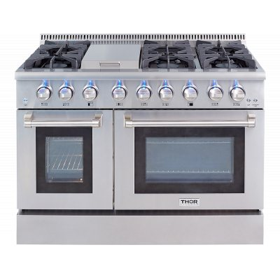 Thor Kitchen 48 in. 6 Burner Stainless Steel Professional Gas Range - HRG4808U - Bison Kitchens