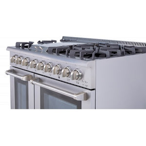 Thor Kitchen 48 in. Professional Dual Fuel Range in Stainless Steel - HRD4803U - Bison Kitchens