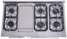 Load image into Gallery viewer, Thor Kitchen 48 in. Professional Dual Fuel Range in Stainless Steel - HRD4803U - Bison Kitchens