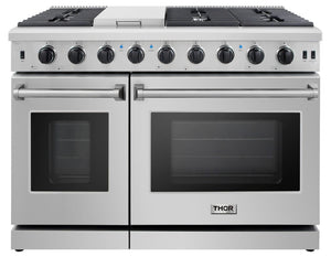 Thor Kitchen 48 in. Professional Stainless Steel Gas Range - LRG4807U - Bison Kitchens