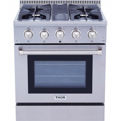 Thor Kitchen Professional 30 in. Dual Fuel Range in Stainless Steel - HRD3088U - Bison Kitchens