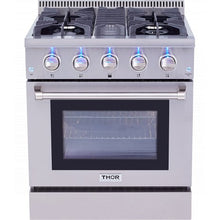 Load image into Gallery viewer, Thor Kitchen Professional 30 in. Dual Fuel Range in Stainless Steel - HRD3088U - Bison Kitchens