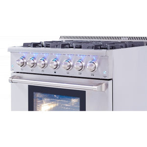 Thor Kitchens 36 in. Professional Dual Fuel Range in Stainless Steel - HRD3606U - Bison Kitchens