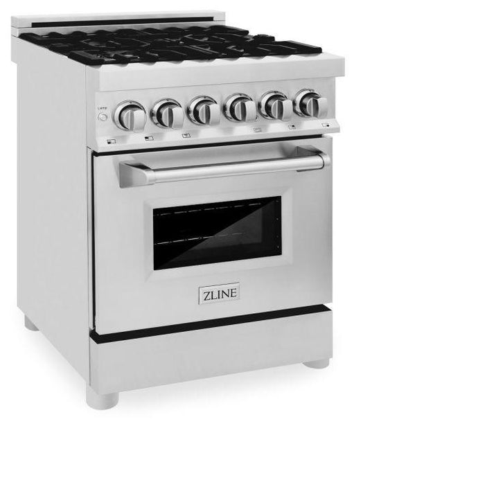 Ranges - ZLINE 24 In. Professional Dual Fuel Range In Stainless Steel - (RA-24)