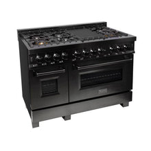 Load image into Gallery viewer, ZLINE 30 in. Black Stainless 4.0 cu.ft. 4 Gas Burner/Electric Oven Range (RAB-30) - Bison Kitchens
