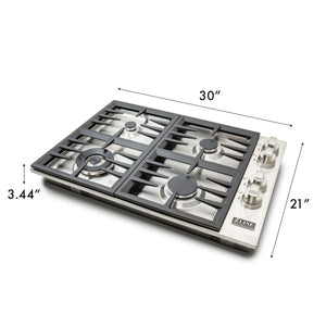ZLINE 30 in. Dropin Cooktop With 4 Gas Burners - (RC30) - Bison Kitchens