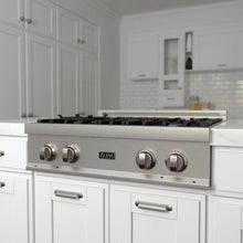 Load image into Gallery viewer, ZLINE 30 in. Porcelain Rangetop In Durasnow® Stainless Steel With 4 Gas Burners - (RTS-30) - Bison Kitchens