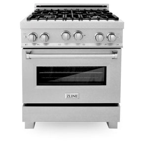 Ranges - ZLINE 30 In. Professional 4.0 Cu. Ft. 4 Gas On Gas Range In Durasnow® Stainless Steel - (RGS-SN-30)