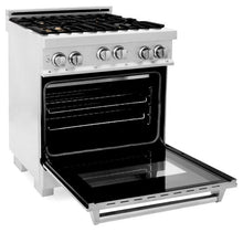 Load image into Gallery viewer, Ranges - ZLINE 30 In. Professional 4.0 Cu. Ft. 4 Gas On Gas Range In Durasnow® Stainless Steel With Brass Burners - (RGS-SN-BR-30)