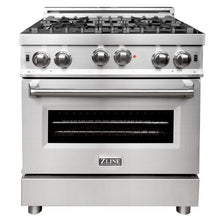 Load image into Gallery viewer, ZLINE 30 in. Professional 4.6 cu. Ft. 6 Gas on Gas Range in Stainless Steel (RG30) - Bison Kitchens