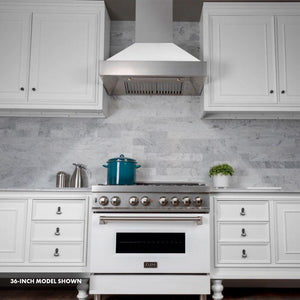 ZLINE 30 in. Professional Dual Fuel Range In Durasnow® Stainless Steel With White Matte Door (RAS-WM-30) - Bison Kitchens
