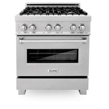 Load image into Gallery viewer, Ranges - ZLINE 30 In. Professional Dual Fuel Range In Durasnow® Stainless With Durasnow® Stainless Door - (RAS-SN-30)