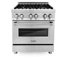 Load image into Gallery viewer, Ranges - ZLINE 30 In. Professional Dual Fuel Range In Stainless Steel With Brass Burners - (RA-BR-30)