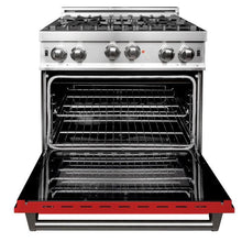 Load image into Gallery viewer, ZLINE 30 in. Professional Gas on Gas Range in Stainless Steel Red Matte Door (RG-RM-30) - Bison Kitchens
