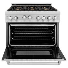 Load image into Gallery viewer, Ranges - ZLINE 36 In. Professional 4.0 Cu. Ft. 4 Gas On Gas Range In Durasnow® Stainless Steel With Brass Burners - (RGS-SN-BR-36)