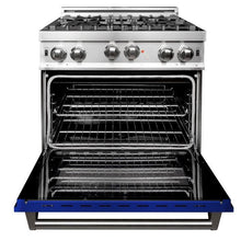 Load image into Gallery viewer, ZLINE 36 in. Professional Gas no Gas Range Stainless Steel with Blue Gloss Door (RG-BG-36) - Bison Kitchens