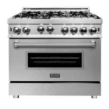 Load image into Gallery viewer, ZLINE 36 in. Professional Gas on Gas Range Stainless Steel with Snow Stainless Door (RG-SN-36) - Bison Kitchens