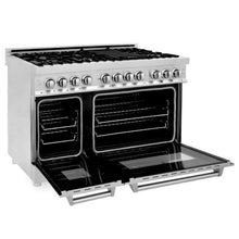 Load image into Gallery viewer, ZLINE 48 in. Professional Stainless Steel Dual Fuel 4 Gas Burner/Electric Oven Range (RA48) - Bison Kitchens