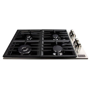 ZLINE 30 in. Dropin Cooktop With 4 Gas Burners and Black Porcelain Top (RC30-PBT) - Bison Kitchens