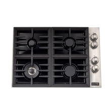 Load image into Gallery viewer, ZLINE 30 in. Dropin Cooktop With 4 Gas Burners and Black Porcelain Top (RC30-PBT) - Bison Kitchens