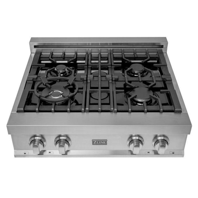 ZLINE 30 in. Porcelain Rangetop with 4 Gas Burners (RT30) - Bison Kitchens