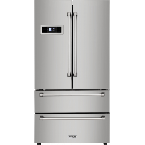 Refrigerator - Thor Kitchen 36 In. Professional French Door Refrigerator - HRF3601F