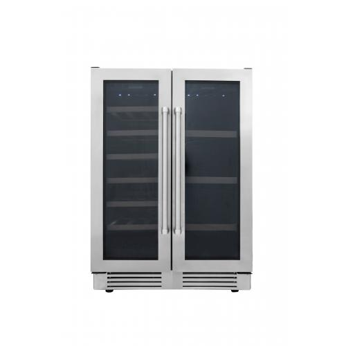 Thor Kitchen 24 in. 21-Bottle Under Counter Freestanding Dual Zone Wine Cooler - TBC2401DI - Bison Kitchens