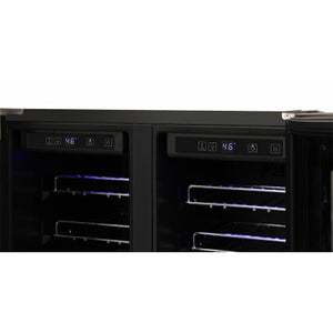 Thor Kitchen 24 in. 42 Bottle Dual Zone Built-in Wine Cooler - TWC2402 - Bison Kitchens