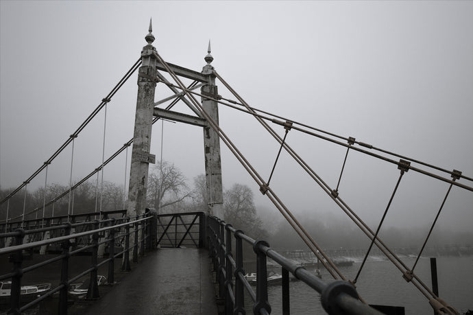 Fog over Teddington Lock Bridge - T.Wilsher Photography