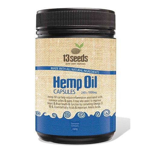 13 Seeds- Hemp Oil Capsules-Superfoods-13 seeds-Hemp Arcade