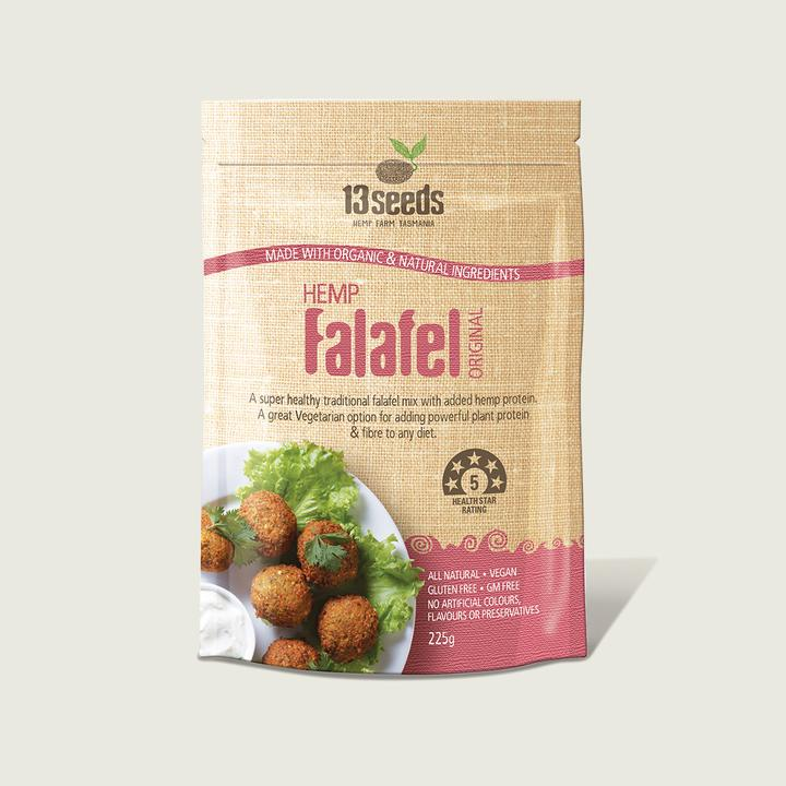 13 Seeds- Hemp Falafel Original 225g-Superfoods-13 seeds-Hemp Arcade