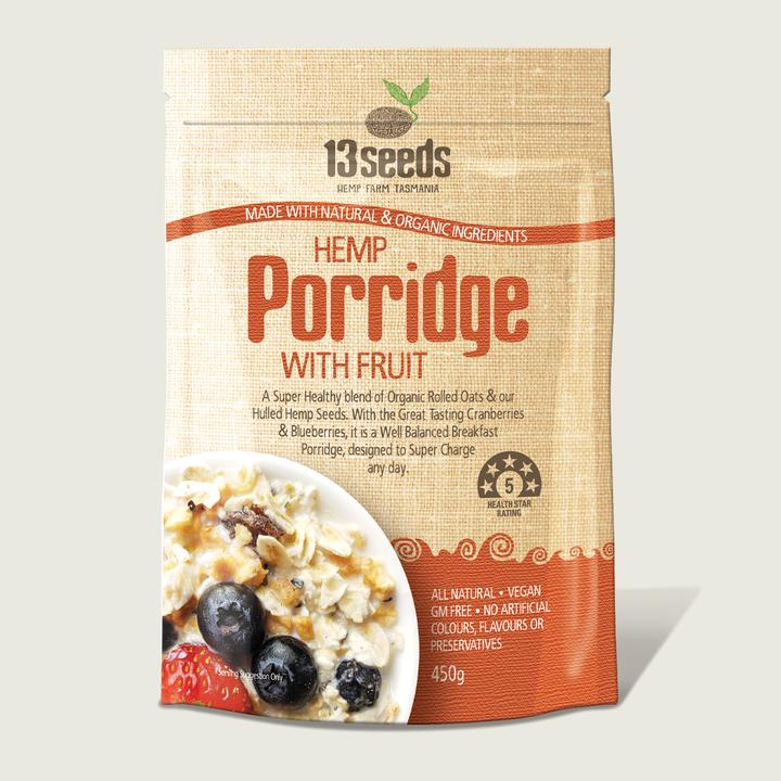 13 Seeds- Hemp Porridge With Fruit 450g-Superfoods-13 seeds-Hemp Arcade