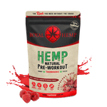 Hemp Natural Pre Workout- Raspberry Rush 500g