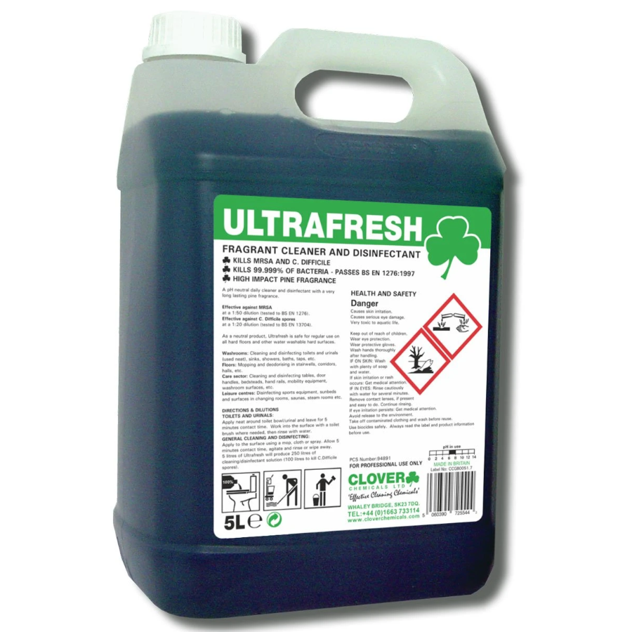 Ultrafresh Cleaner and Disinfectant - 5 ltr