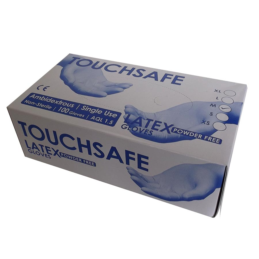 Disposable Gloves Latex P/F Clear – 10 x 100