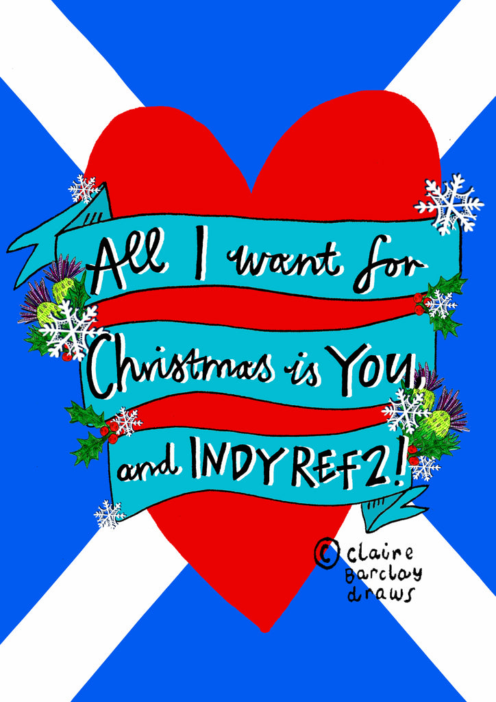 'All I want for Christmas is YOUU and INDY REF 2!' Xmas Card