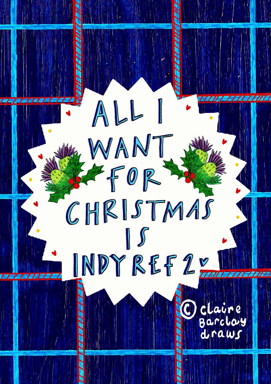 'All I want for Christmas is INDY REF 2!' Xmas Card