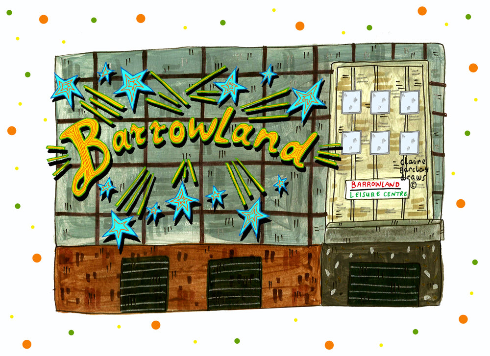 Barrowlands Glasgow Landmark Illustration Print