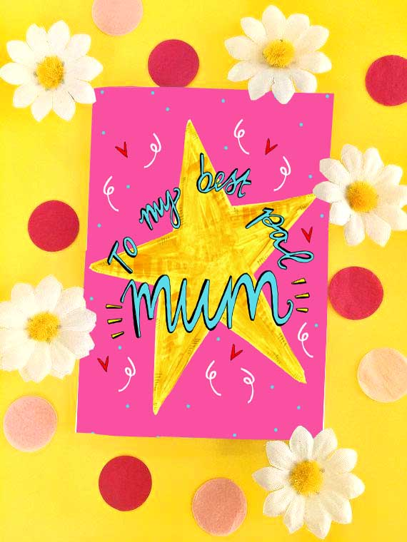 To My Best Pal MUM Greetings Card