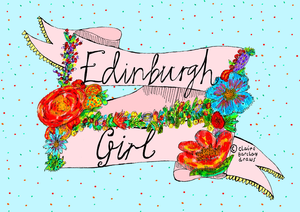 Edinburgh Girl Art Print